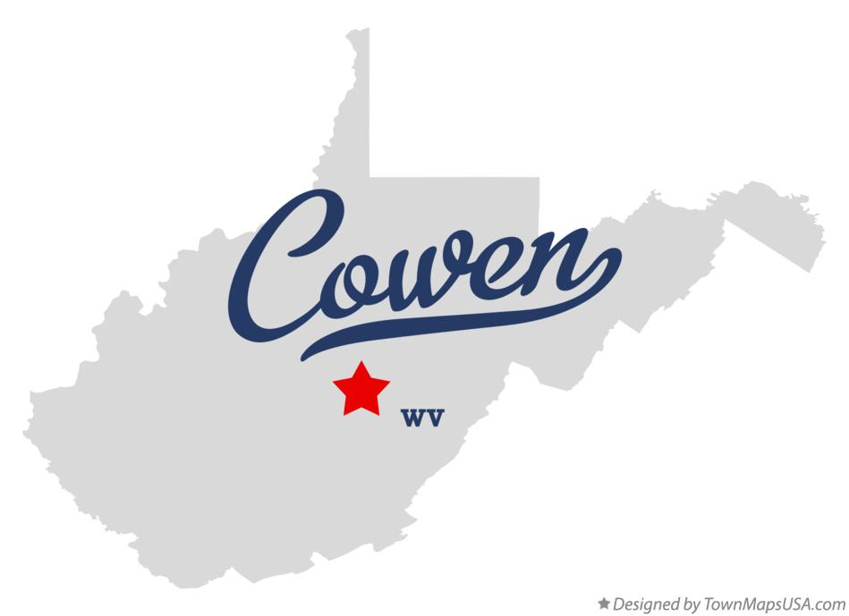 Map of Cowen West Virginia WV