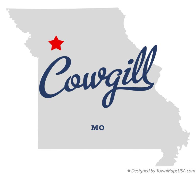 Map of Cowgill Missouri MO