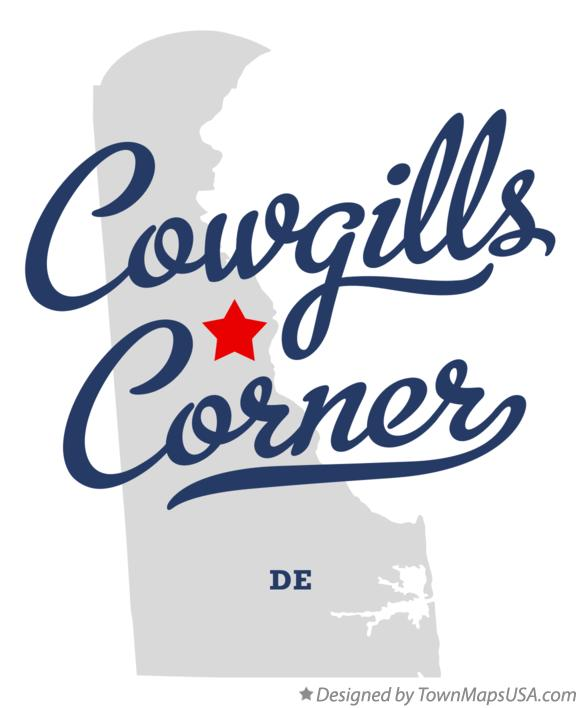 Map of Cowgills Corner Delaware DE