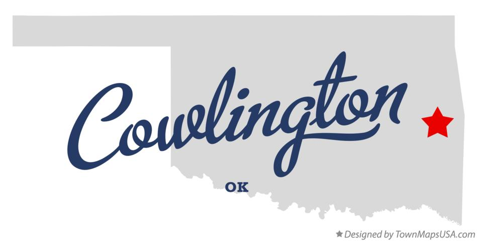 Map of Cowlington Oklahoma OK