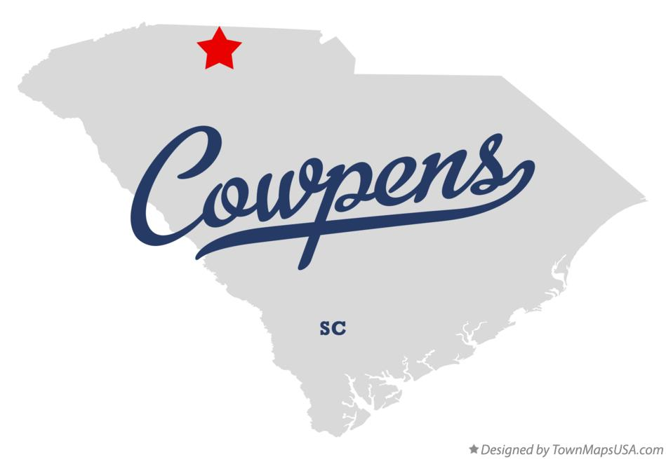 Map of Cowpens South Carolina SC