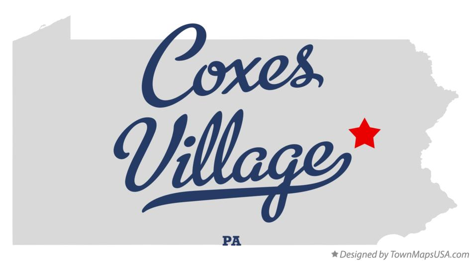 Map of Coxes Village Pennsylvania PA