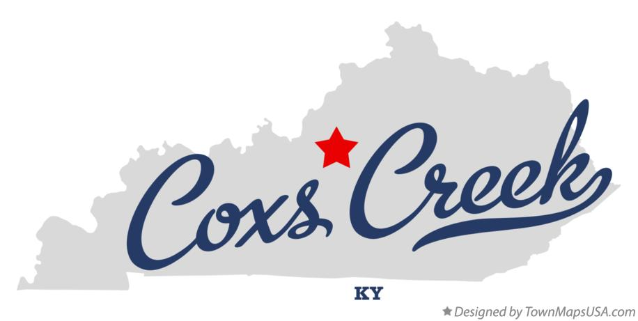 Map of Coxs Creek Kentucky KY