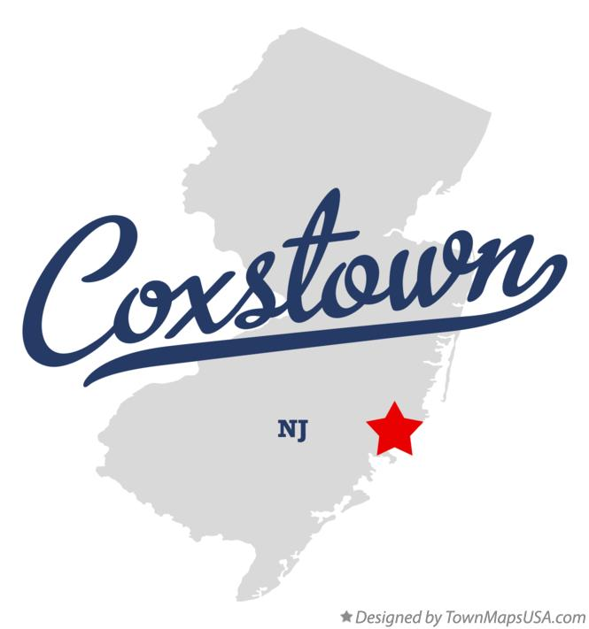 Map of Coxstown New Jersey NJ