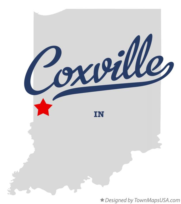 Map of Coxville Indiana IN