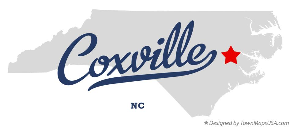 Map of Coxville North Carolina NC