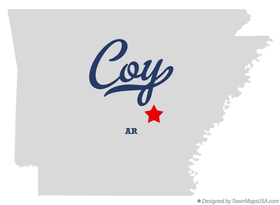 Map of Coy Arkansas AR