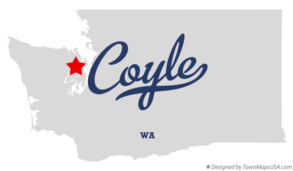 Map of Coyle Washington WA