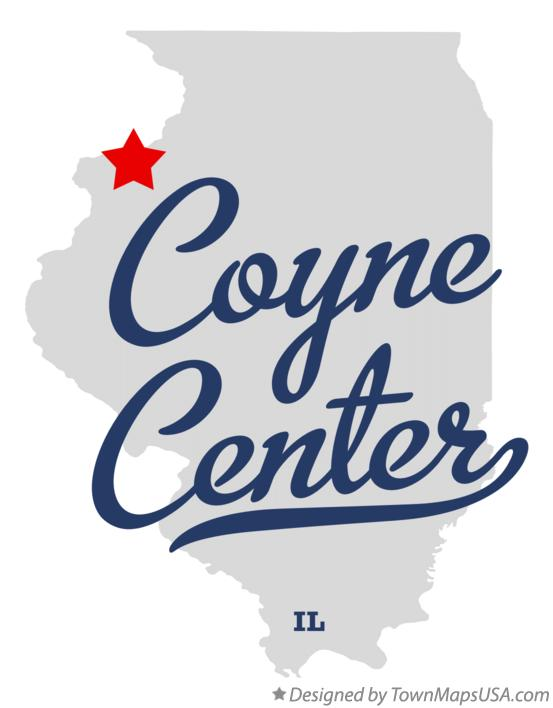 Map of Coyne Center Illinois IL