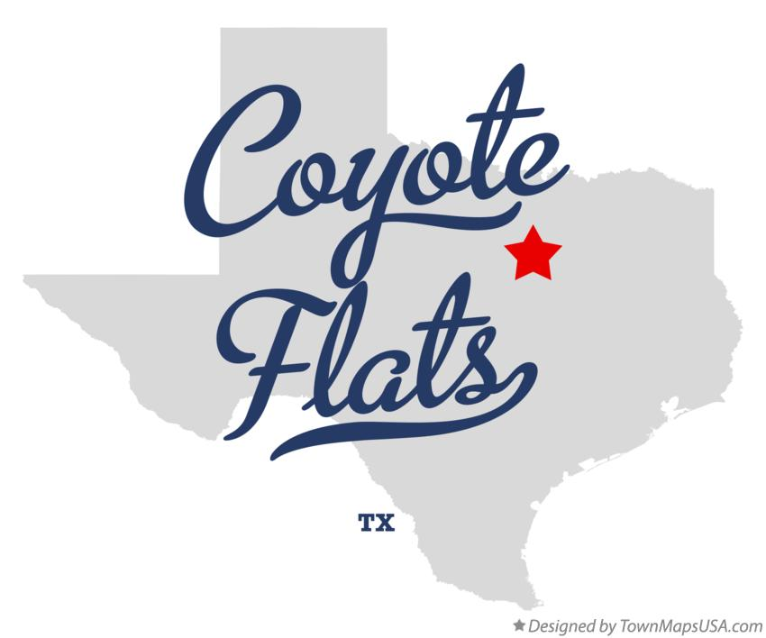 Map of Coyote Flats Texas TX