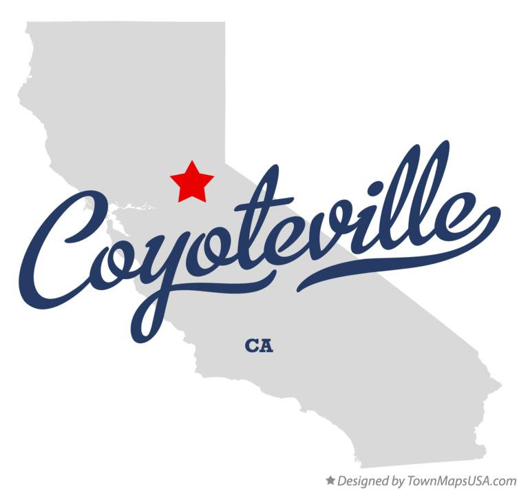 Map of Coyoteville California CA