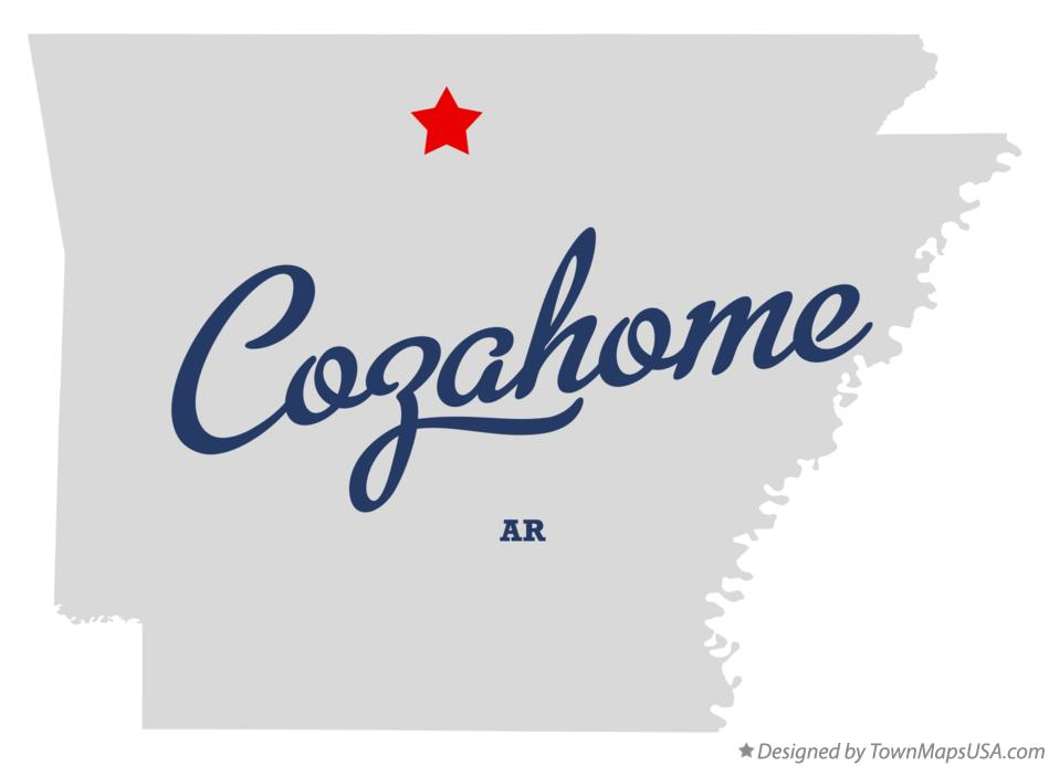 Map of Cozahome Arkansas AR