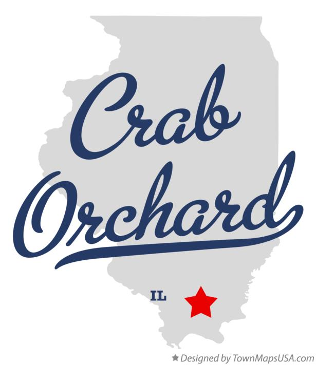 Map of Crab Orchard Illinois IL