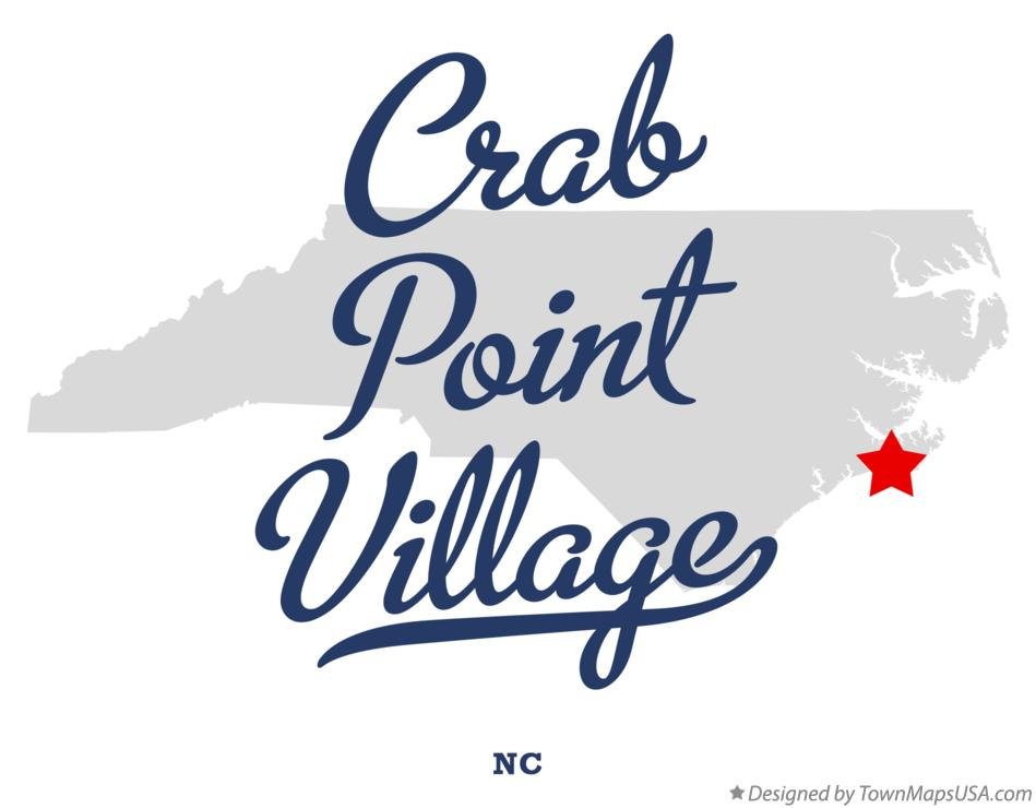 Map of Crab Point Village North Carolina NC