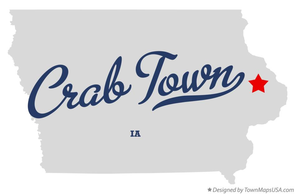 Map of Crab Town Iowa IA