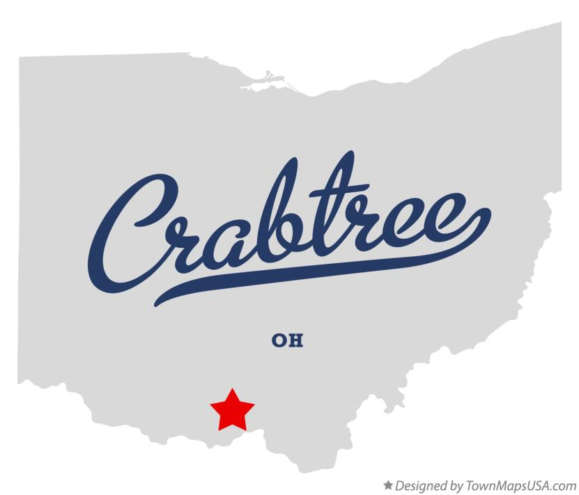 Map of Crabtree Ohio OH