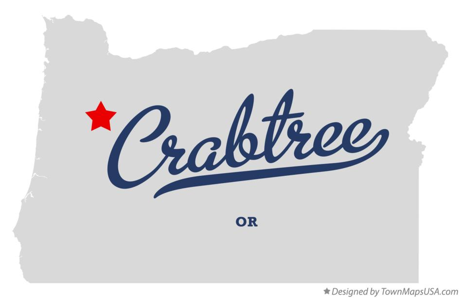 Map of Crabtree Oregon OR