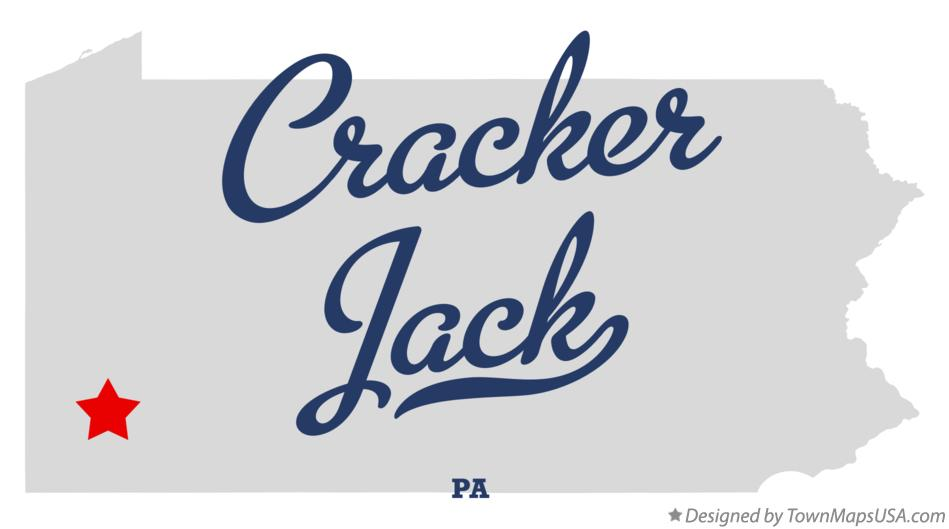 Map of Cracker Jack Pennsylvania PA