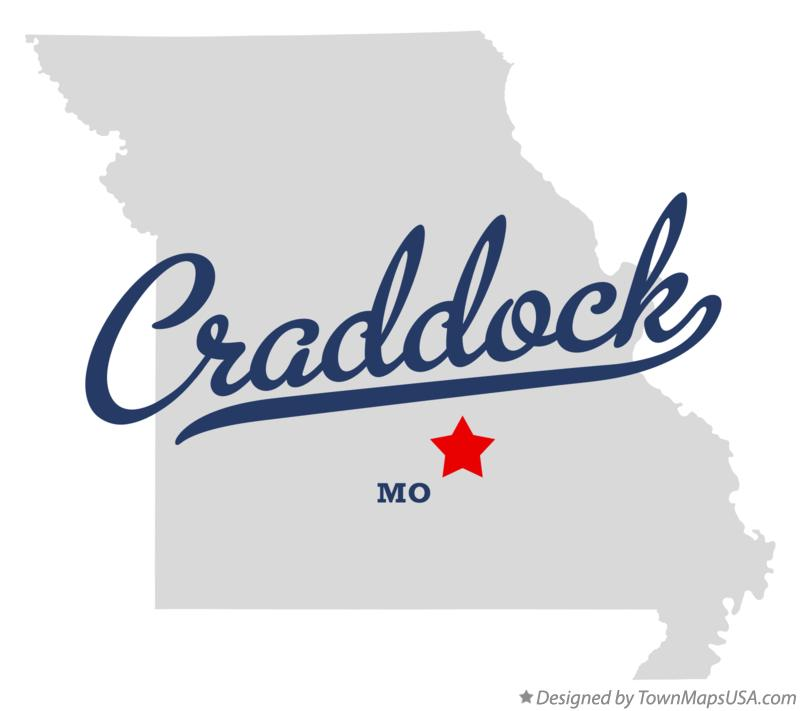 Map of Craddock Missouri MO