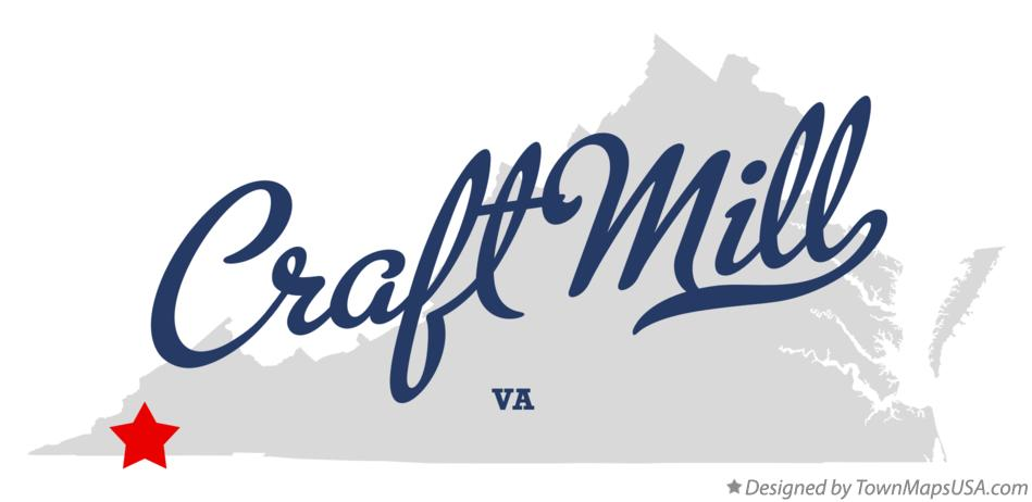 Map of Craft Mill Virginia VA