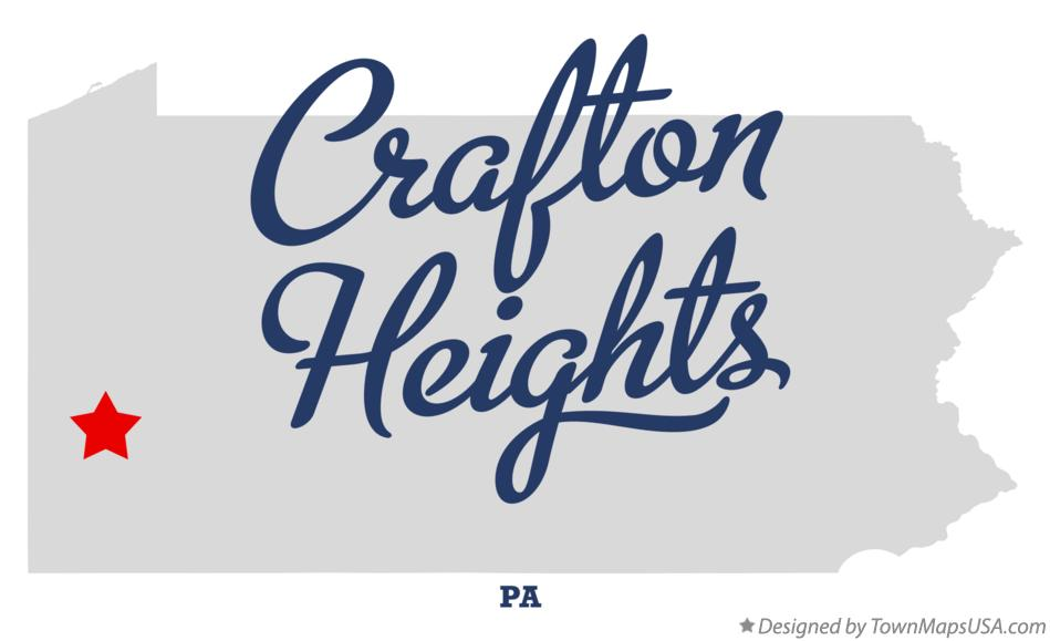Map of Crafton Heights Pennsylvania PA