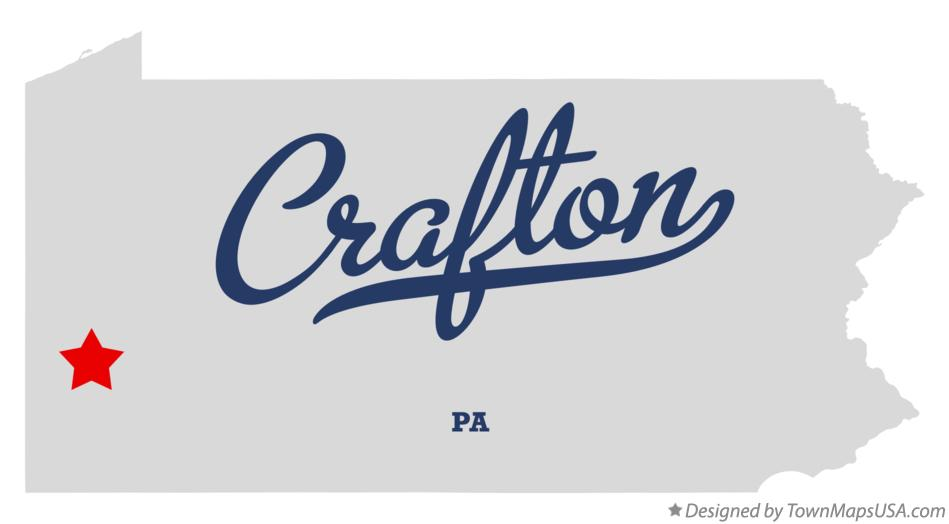 Map of Crafton Pennsylvania PA