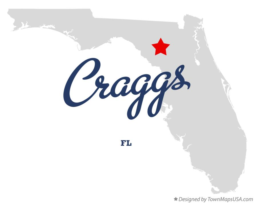 Map of Craggs Florida FL