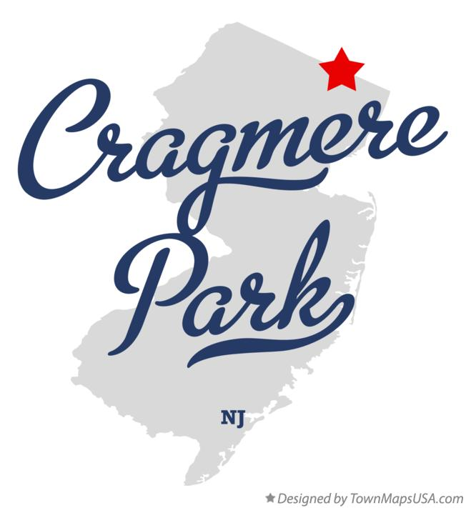 Map of Cragmere Park New Jersey NJ