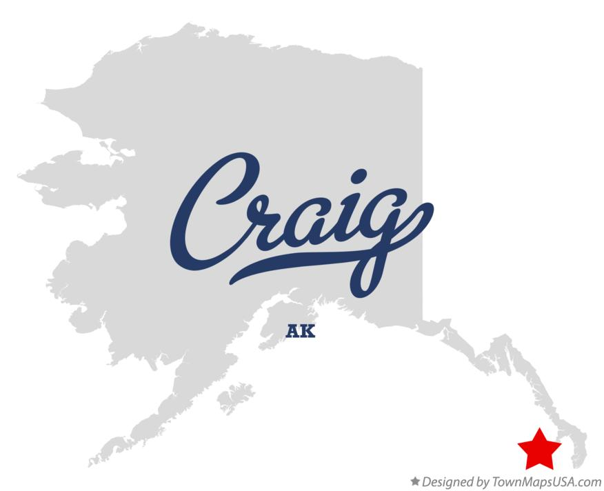 Map of Craig Alaska AK