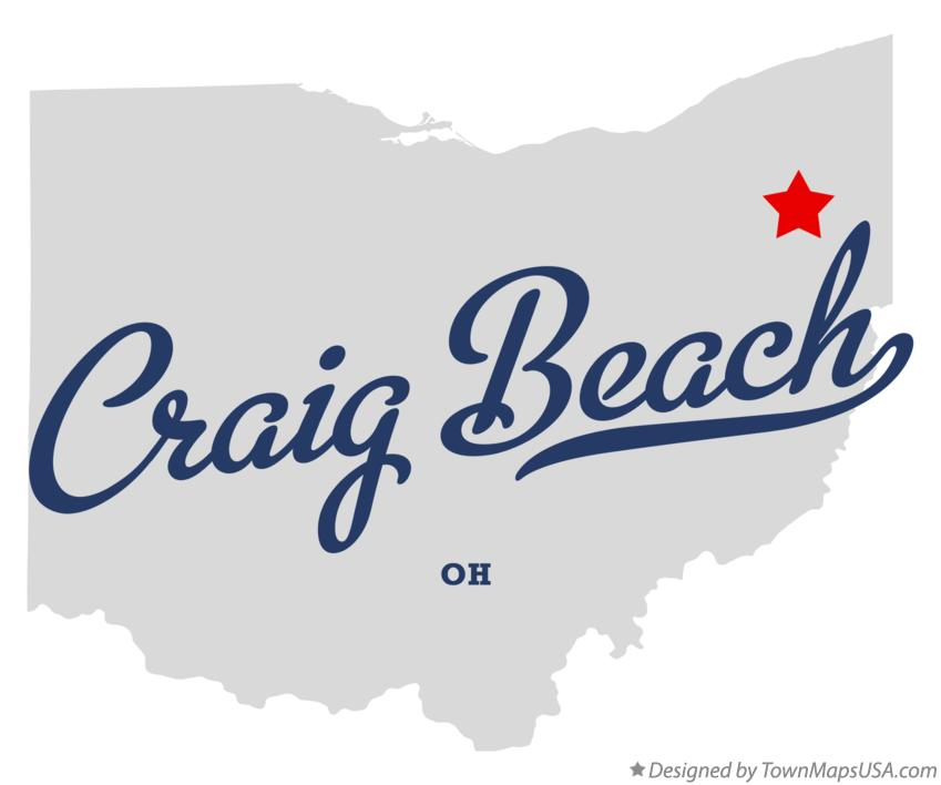 Map of Craig Beach Ohio OH