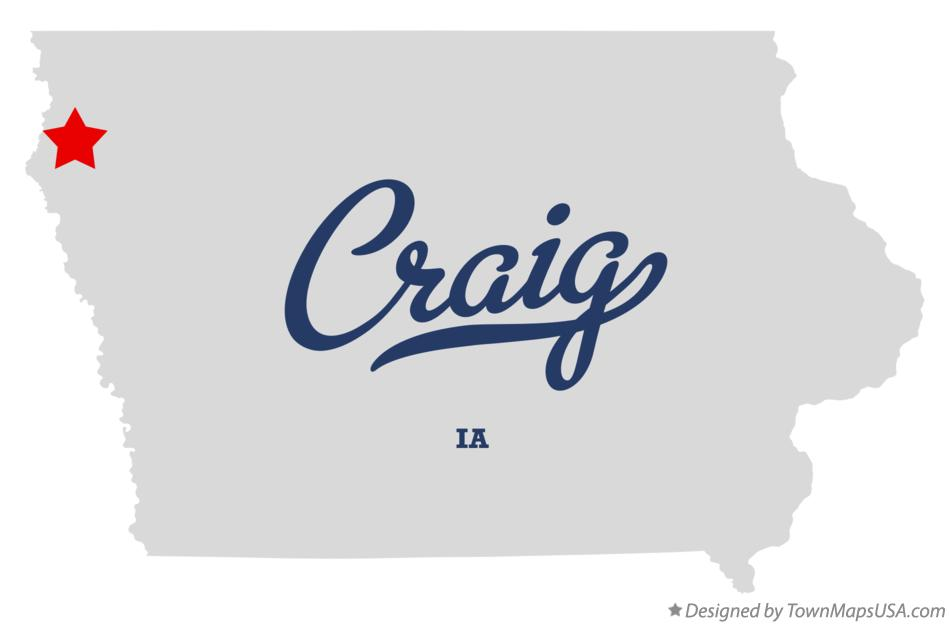 Map of Craig Iowa IA