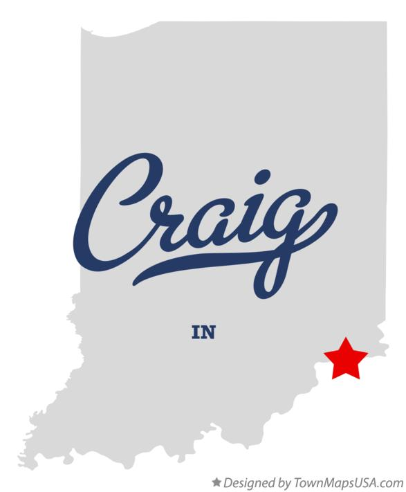 Map of Craig Indiana IN