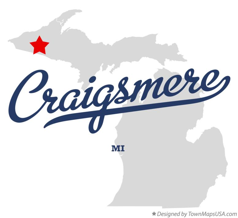 Map of Craigsmere Michigan MI