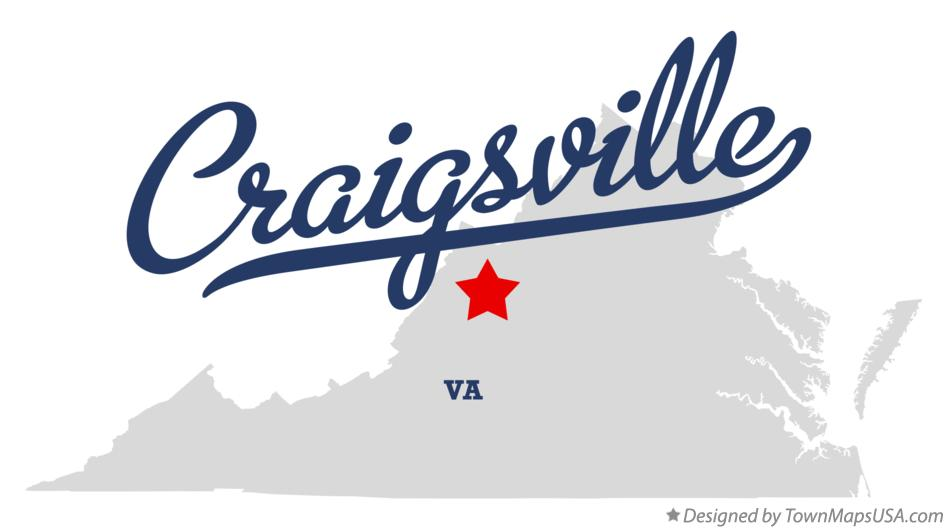 Map of Craigsville Virginia VA