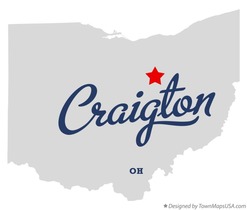 Map of Craigton Ohio OH