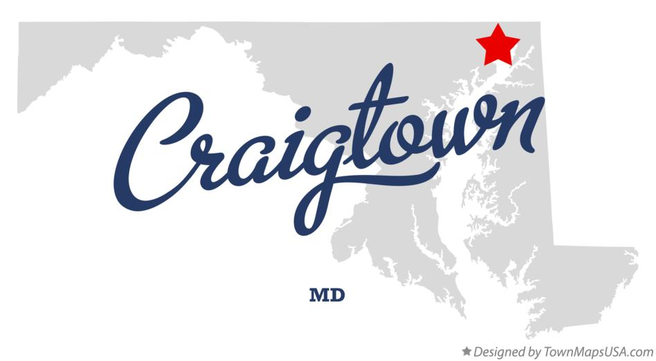 Map of Craigtown Maryland MD