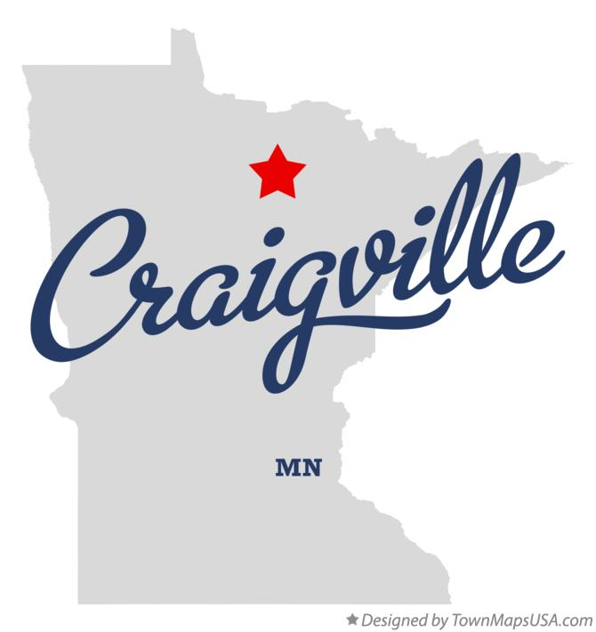 Map of Craigville Minnesota MN