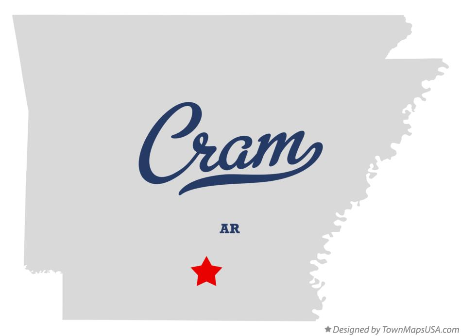 Map of Cram Arkansas AR