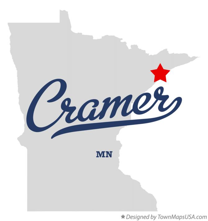 Map of Cramer Minnesota MN