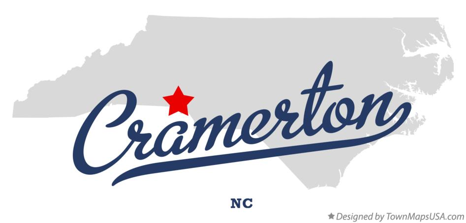 Map of Cramerton North Carolina NC