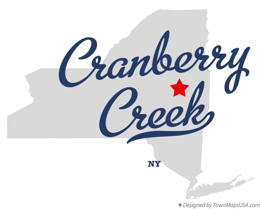 Map of Cranberry Creek New York NY