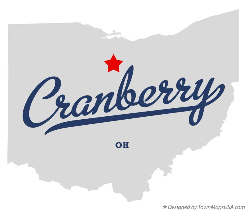 Map of Cranberry Ohio OH