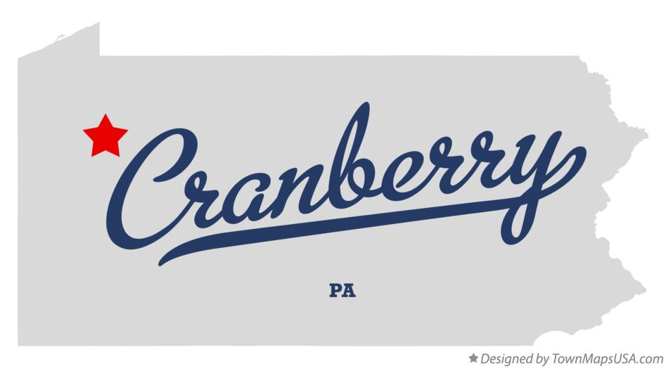 Map of Cranberry Pennsylvania PA