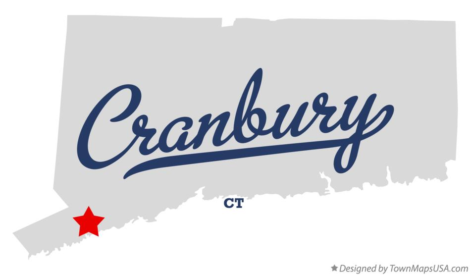 Map of Cranbury Connecticut CT