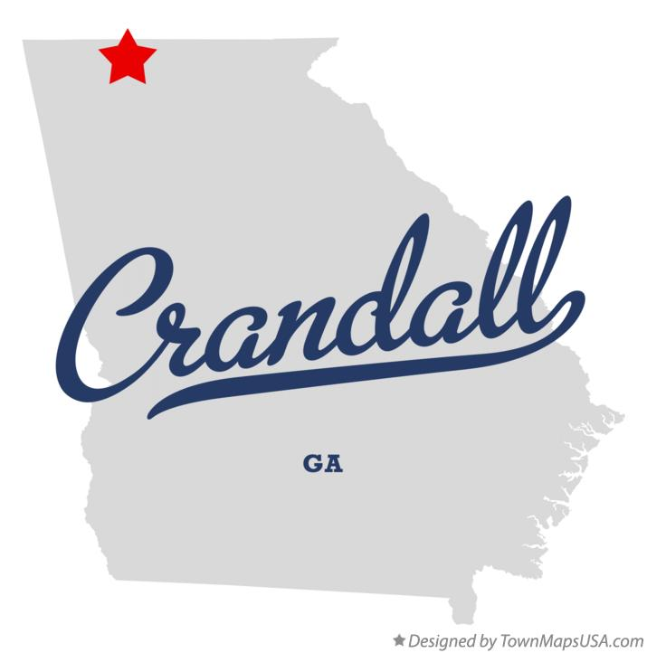 Map of Crandall Georgia GA