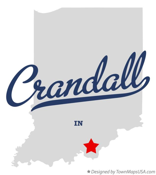 Map of Crandall Indiana IN