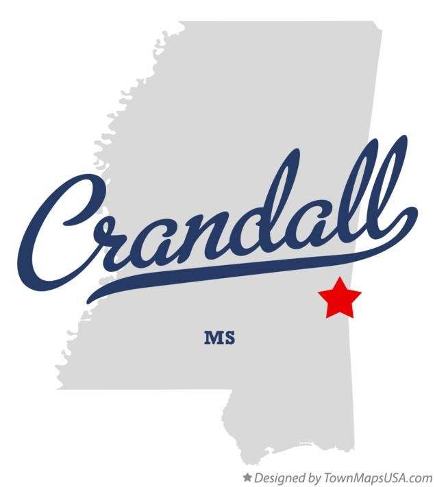 Map of Crandall Mississippi MS
