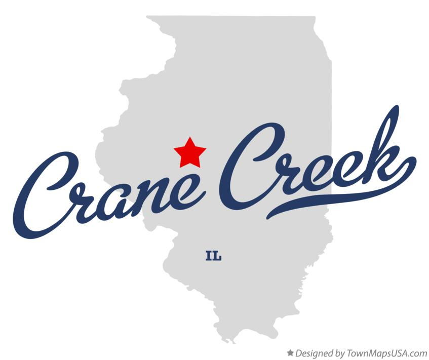 Map of Crane Creek Illinois IL