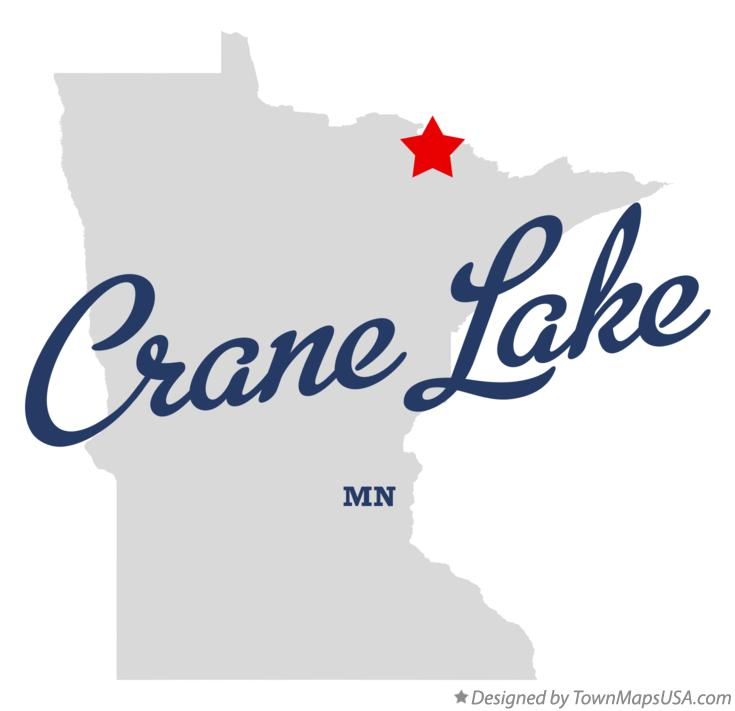 Map of Crane Lake Minnesota MN