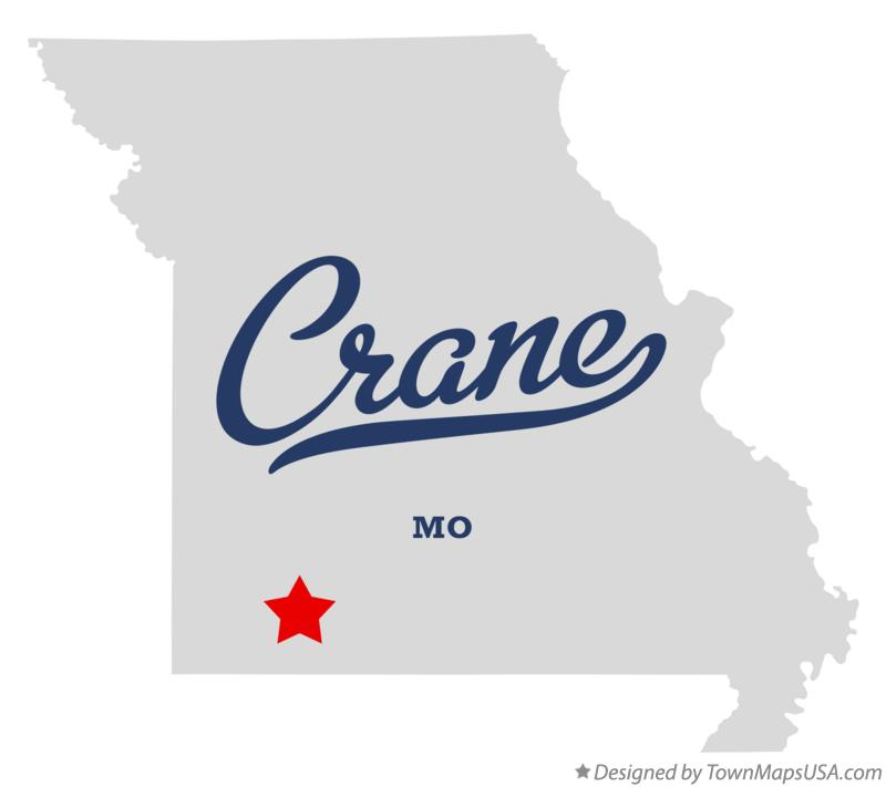 Map of Crane Missouri MO